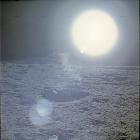 A14 Sun from lunar surface